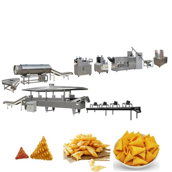 Single Screw Extruder Fried 2D 3D Pellet Snacks Chips Macaroni Pasta Making Machine #1 image
